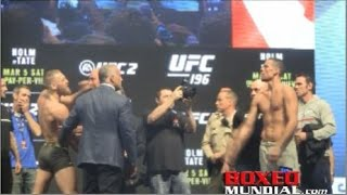 UFC 196 Official Weigh-in: Conor McGregor 168 vs. Nate Diaz 169