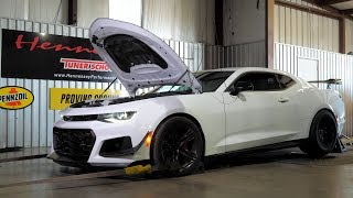 Hennessey HPE750 2019 ZL1 1LE Camaro Chassis Dyno Testing