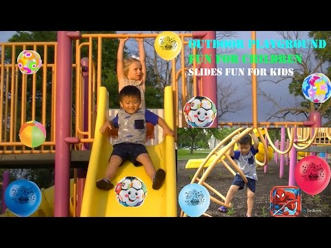 Outdoor Playground Fun for Children - Slides for Kids Video