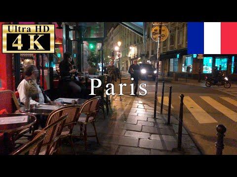 🇫🇷Paris Night Walk 4K 60fps - Le Marais(The Marais) district -