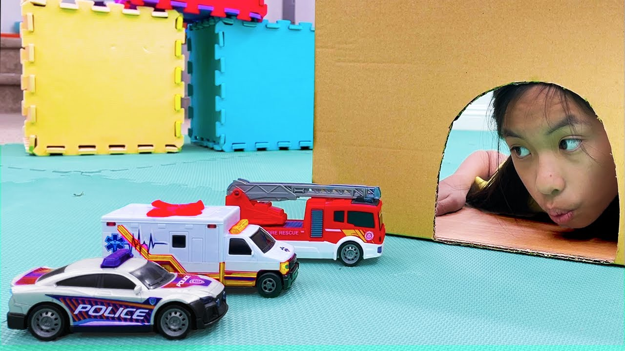 Wendy and Eric Pretend Play with Hot Wheels Toy Cars and Playsets | Kids Learn to Work Together
