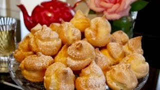Persian Cream Puff Pastry Recipe  Persian Noon Khamei  Light and Fluffy  Krem Santi  نان خامه ای