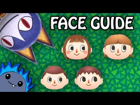 COMPLETE FACE GUIDE - Animal Crossing: New Leaf