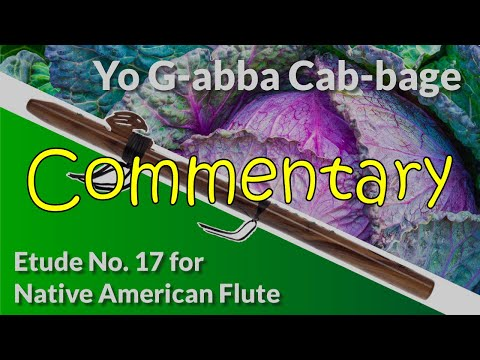Native American Flute Etude No. 17 - Yo G-abba Cab-bage - Full Commentary
