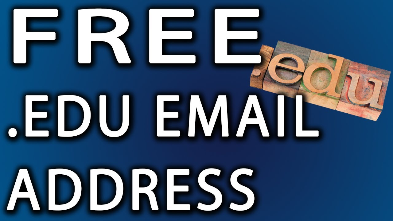 How To Get A Free  Edu Account: Email