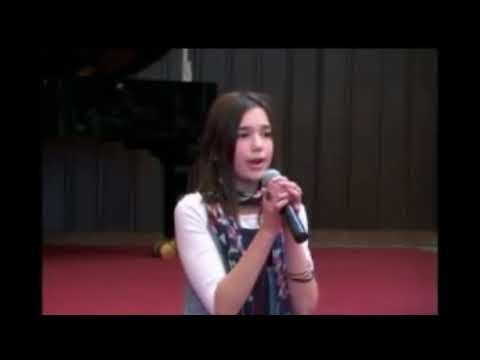 12 years old Dua Lipa singing at her school in Kosova