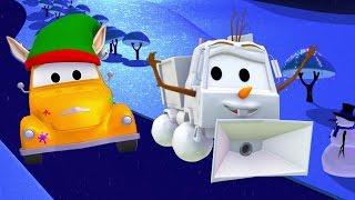 Малярная Мастерская Эвакуатора Тома: Сэм превращается в снеговик Олаф | Мультфильмы про машинки
