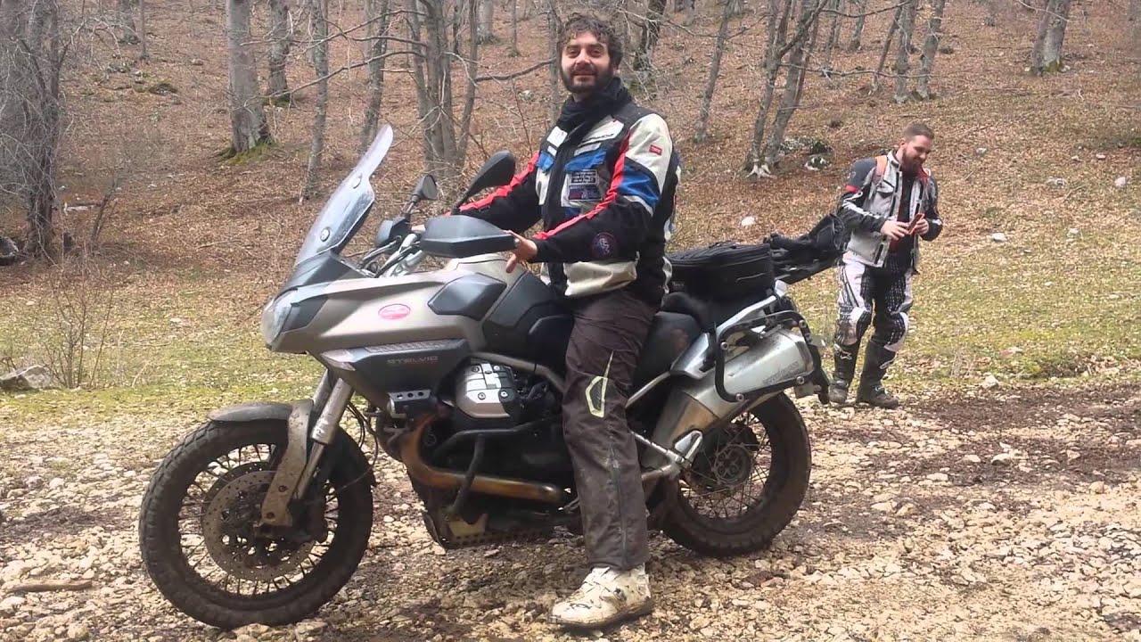 test ride moto guzzi stelvioevanex - youtube