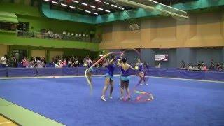 2016年全港學界藝術體操比賽  中學組 集體三球兩帶 觀塘