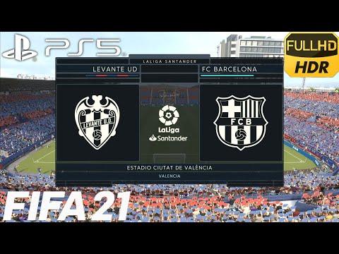 FIFA 21 PS5 | Levante UD vs FC Barcelona | La Liga - Jornada 36 | 1080p60fps HDR