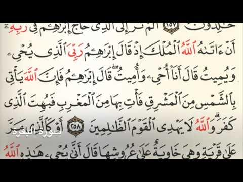 سورة البقرة Holy Quran Chapter 2 Page 43 Youtube