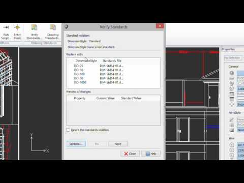 Verifying Drawing Standards compliance in CorelCAD