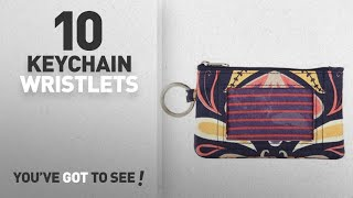 Top 10 Wristlets Keychain [ Winter 2018 ]: Tangier Zip Wallet for Women with Key Ring, ID Window