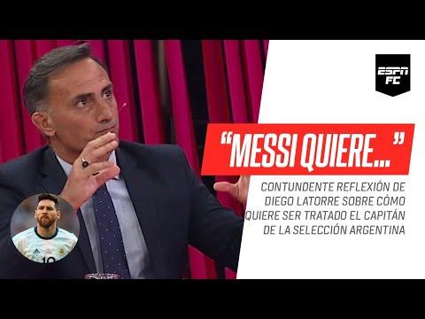 La reflexión de Diego #Latorre sobre el trato que espera Leo #Messi en la Selección #Argentina