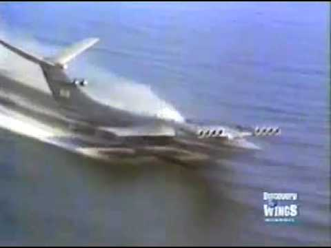 Caspian Sea Monster Ekranoplan Flight Video