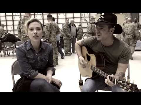 Scarlett Johansson & Craig Campbell Live 'These Boots Are Made for Walkin' on USO Tour