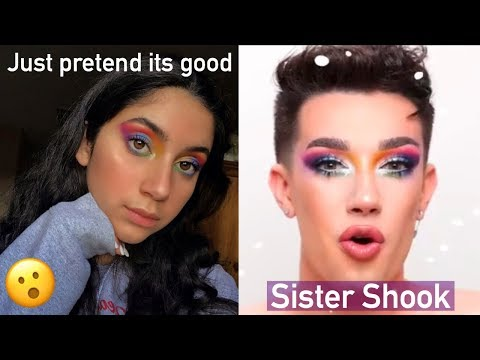 I Tried Following A James Charles Makeup Tutorial! My Mom yelled at me thumbnail