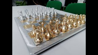 Schachspiel selber bauen - Bildungszentrum - rotros - komplette Bearbeitung - CNC