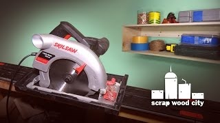 Skilsaw and guide-rail review, plus DIY plywood shelf