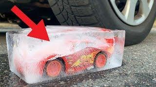 Frozen Lightning McQueen vs Car