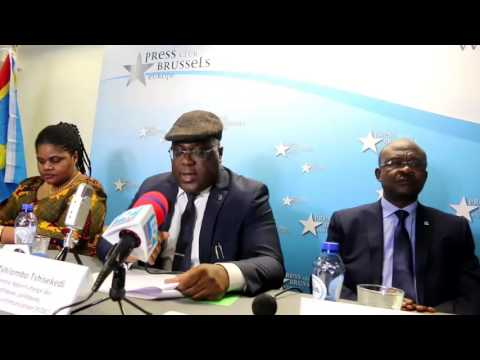 Félix TSHISEKEDI asali plein na Conférence de Presse na Bruxelles. Abimisi ba Secrets ya KAMERHE