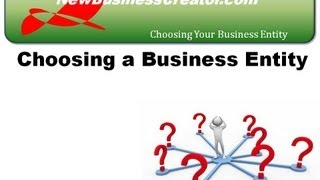 Making Sure You Choose The Right Business Entity