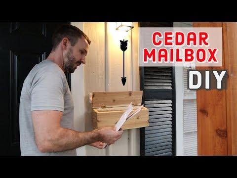 Cedar Mailbox for Your Porch - DIY