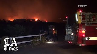 Cave fire threatens homes in Santa Barbara County