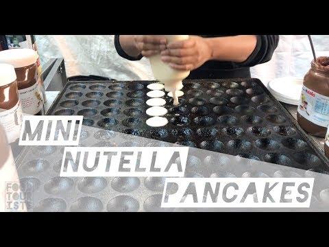 Mini pancakes with Nutella! London Street Food