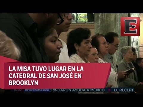 Misa en Nueva York por damnificados de sismos en México