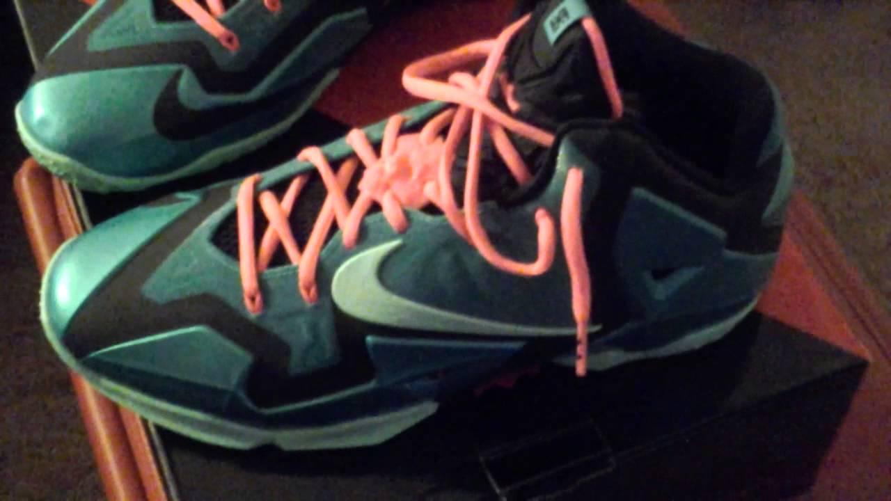 Nike Lebron 11 south beach pink lace swap