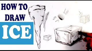 How to Draw Ice - Easy Things to Draw