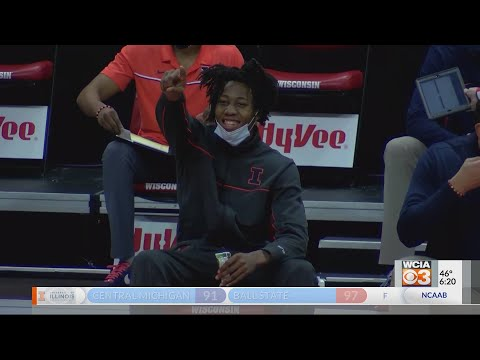 Illini withstand Wisconsin comeback, beat Badgers 74-69 on the road