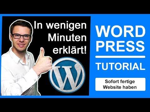 ᐅ WORDPRESS TUTORIAL GERMAN 2017 für ANFÄNGER ᐅInkl. Theme installieren & WordPress Blog erstellen..