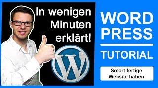 ᐅ WORDPRESS TUTORIAL GERMAN 2018 für ANFÄNGER ᐅInkl. Theme installieren & WordPress Blog erstellen..