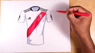 Aprende a dibujar la camiseta oficial del River Plate