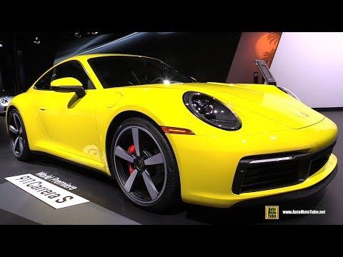 2020 Porsche 911 Carrera S 992 Racing Yellow - Exterior and Interior Walkaround - 2018 LA Auto Show