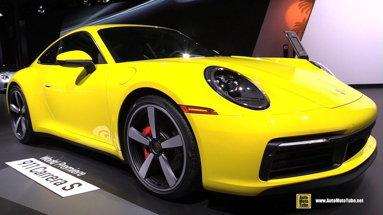 2020 Porsche 911 Carrera S 992 Racing Yellow Exterior And Interior Walkaround 2018 La Auto Show Youtube