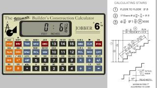 Jobber 6 Construction Calculator - Solving Stairs