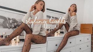 HOW TO STYLE TIGHTS. STYLING TIGHTS FOR WINTER LOOKBOOK | Blaise Dyer