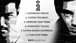 Here is the bgm of kaththi - 100 days celebration! 1. kathiresan arrives 0:00 2. title music 1:36 3. interview fight theme 3:27 4. thanoothu vi...