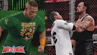 WWE Wrestlemania 32 - Undertaker vs Shane McMahon & John Cena Returns Attack Undertaker - WWE 2K16