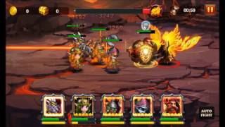 Heroes Charge: Burning Phoenix difficulty 9 Magic team
