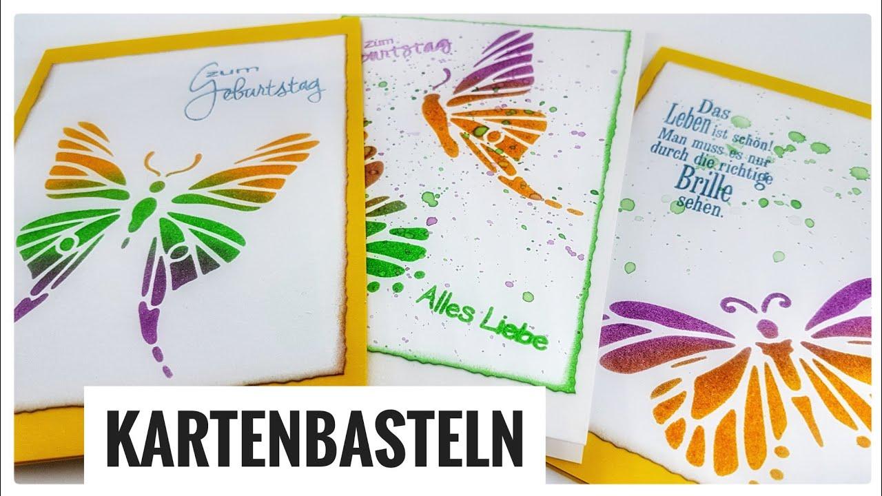 3 Grusskarten Geburtstagskarten Einfach Selber Basteln Mit Papier
