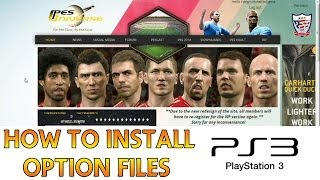 [TTB] PES 2014 - How To Install Option Files - PS3 Versions