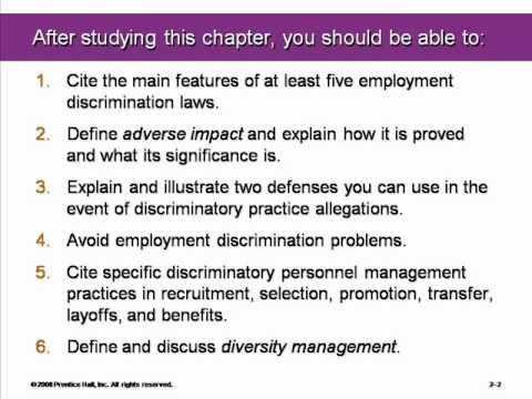 Equal Opportunity and the Law Chapter #2