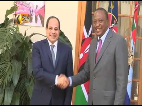 President Uhuru hosts Egyptian President Abdel El-Sisi at State House Nairobi