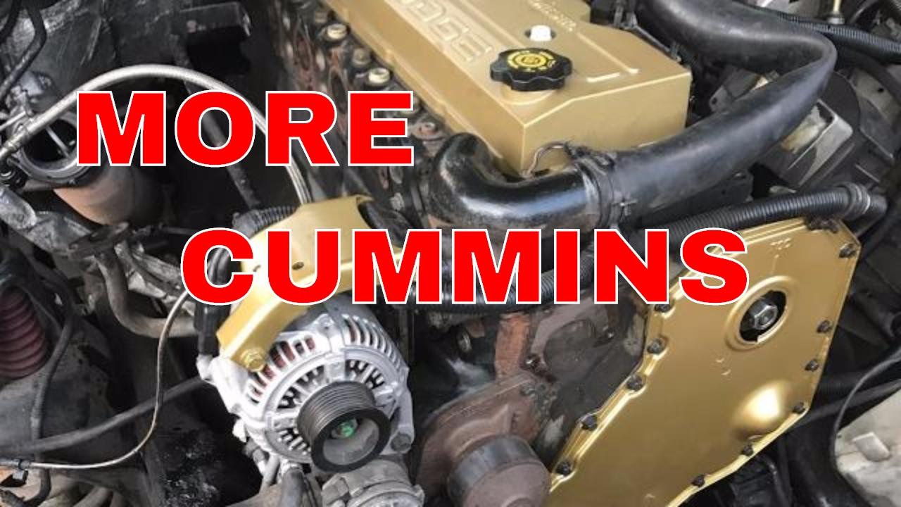 TIMING CASE COVER & OIL COOLER GASKET INSTALL   CUMMINS