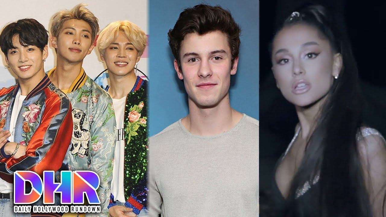 """Shawn Mendes CONFIRMS BTS Collab - Ariana Grande's SEXY """"The Light Is Coming"""" Video (DHR)"""