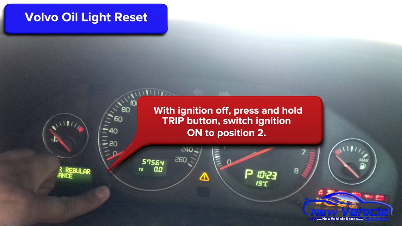 Volvo Oil Light Reset Service Light Reset C30 C70